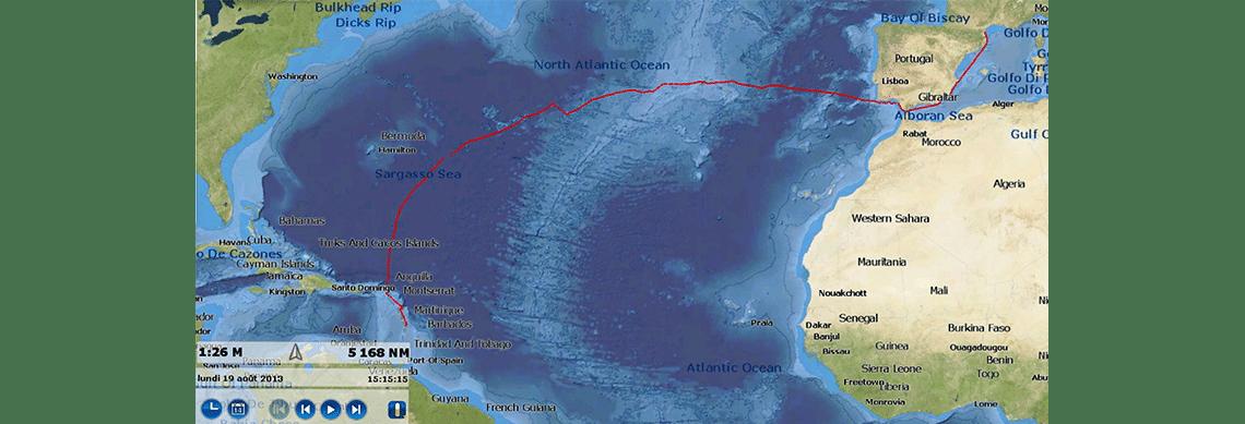 Przeprowadzanie jachtów przez Atlantyk: Transport na trasie Martynika -> Francja ( Port Leucate)